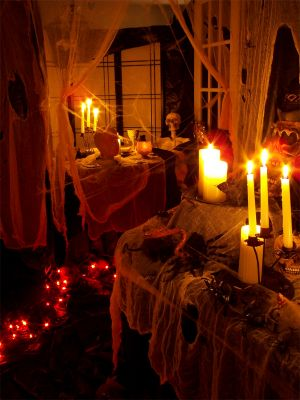 Light and Music - Halloween Party Decorating Idea