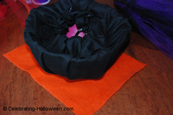 Witch Cauldron Bag - Making the Flames