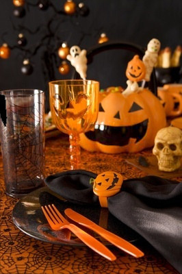 Halloween Dinner Place Setting Ideas