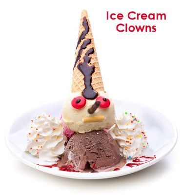 Ice Cream Clowns - For Kids Halloween Party or Birthdays
