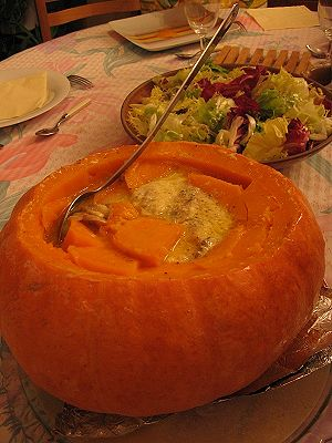 Serve Halloween Party Food in Hollowed Out Pumpkins