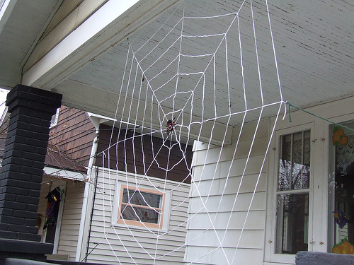 Spider Web Decorations for Halloween Party