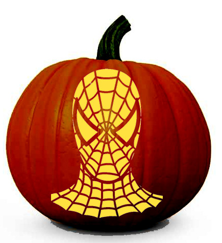 Amazing Spiderman Face - Halloween Pumpkin Carving Stencil