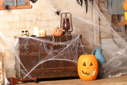Spooky Halloween Decorations with Cobwebs