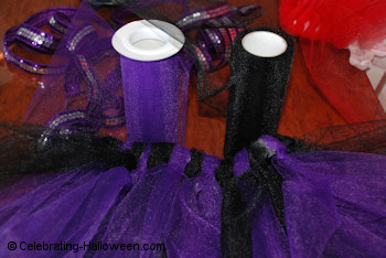 Purple and Black Net Tulle for Witch Tutu