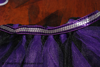 Embellishing the Witch Tutu - DIY Halloween Costumes for Kids