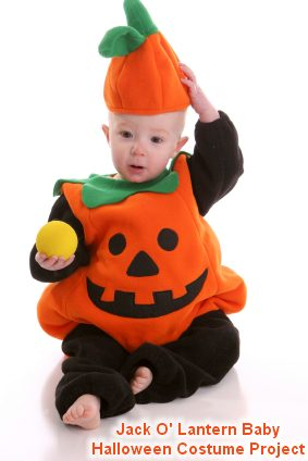 Instructions for making Jack O' Lantern Halloween Costume for Babies