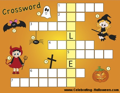 Free Printable Halloween Crossword Puzzle for Kids