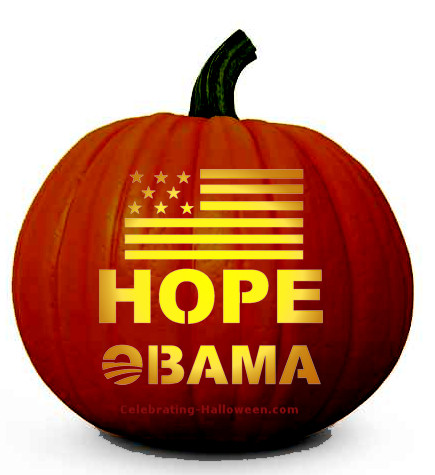 Obama 'Hope' Pumpkin Carving Pattern