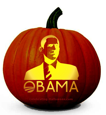 Obama Pumpkin Carving Pattern