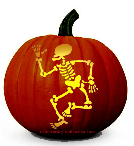 Free Halloween Skeleton Pumpkin Carving Pattern