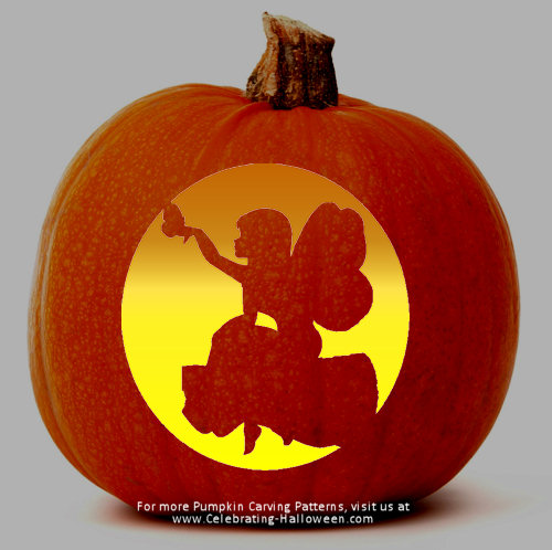 Halloween on pinterest halloween math spiders and monsters for How to carve tinkerbell in a pumpkin