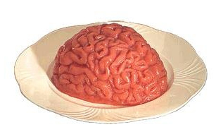 Human Brain Jelly Dessert for Halloween Parties