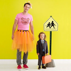 Father Daughter Halloween Costume Ideas - Swapping Costumes