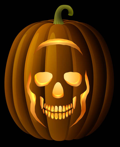 The gallery for gt pumpkin stencils skull